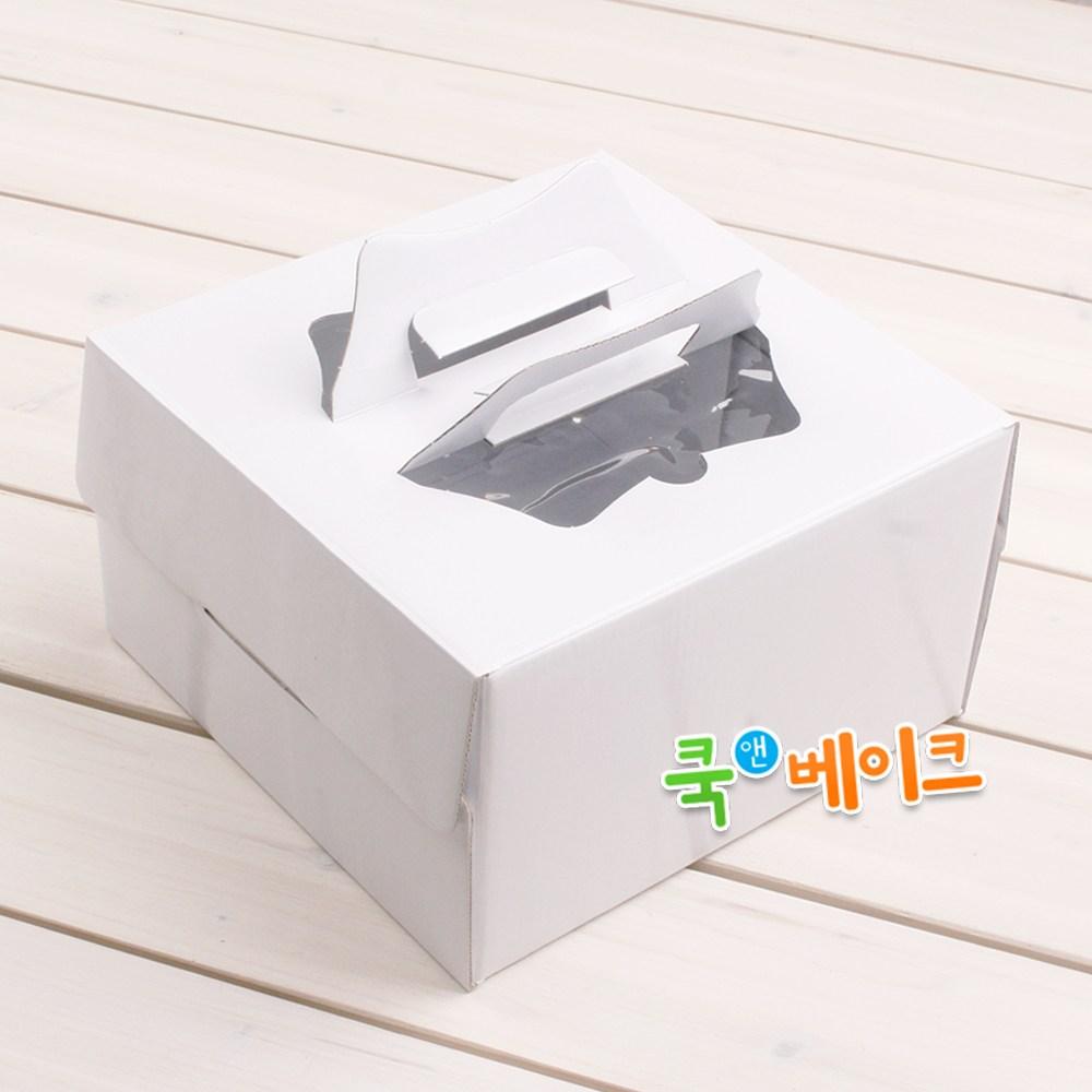 쿡앤베이크 깨끗한 무지 케익박스(1~4호), 케익박스21 무지1호