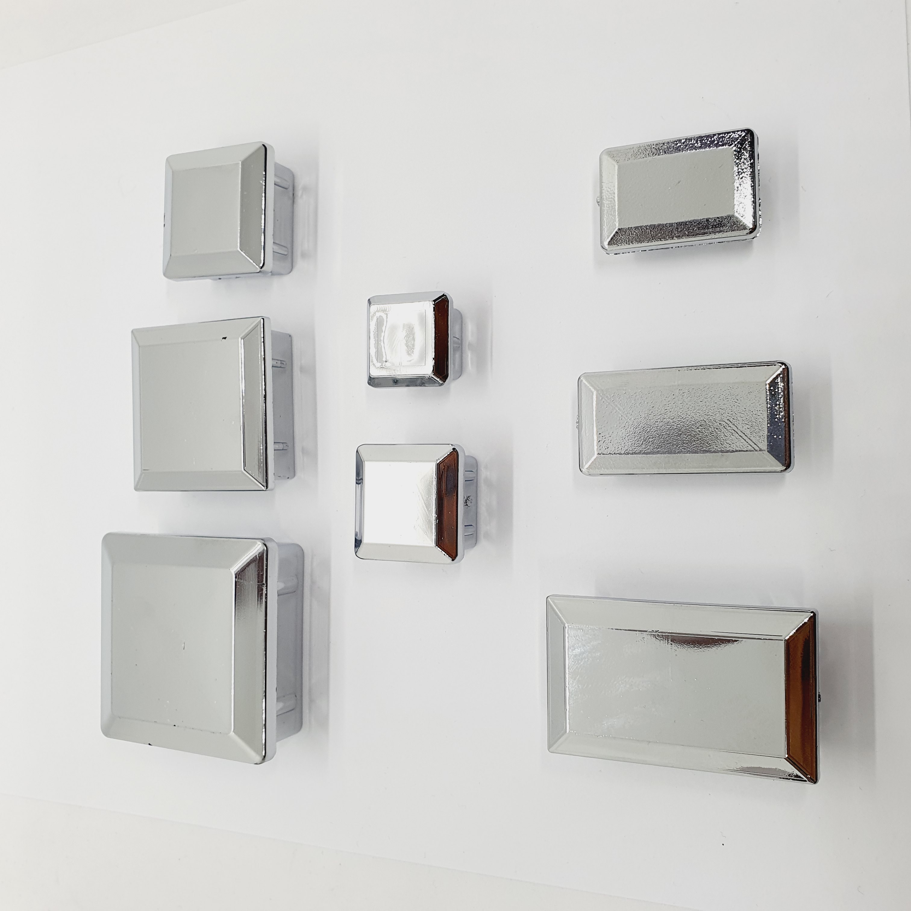 PVC 사각캡 고급 은색 각파이프 마감캡, 1개, 30*30 (POP 1495951433)