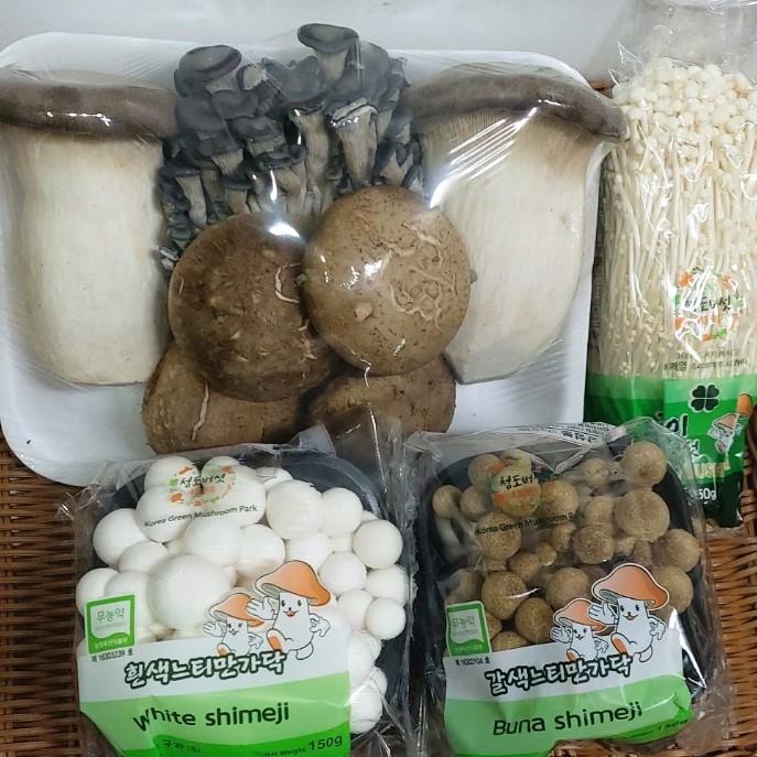 버섯모듬 은 농산물도매시장에 매일 출하되는 많은 생산자님의 상품중에서 당일 수확하여 신선하고 우수한 특품만을 엄선하여 고객님께 전달 합니다, 1팩, 1000g