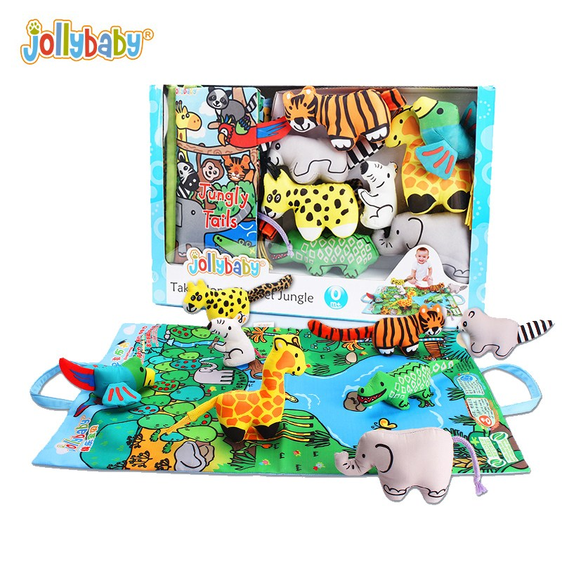 졸리베이비 꼬리책 헝겊책 동물놀이세트 초점책, 01 정글리 세트