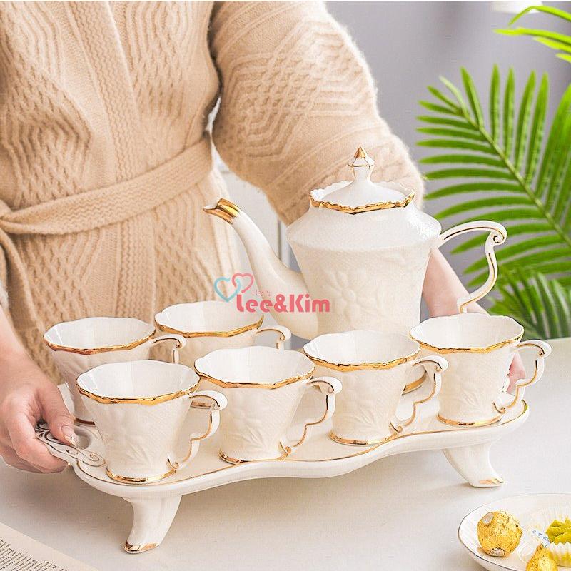리앤킴 북유럽 스타일 커피잔 세트 lnk457, 아이보리, 8세트