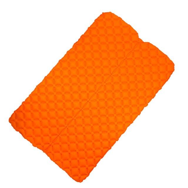 초경량 경량 2 인 습기 방지 에어 매트리스 나일론 tpu 슬리핑 패드 매트리스 용 풍선 매트리스 캠핑 매트, 03 2P orange