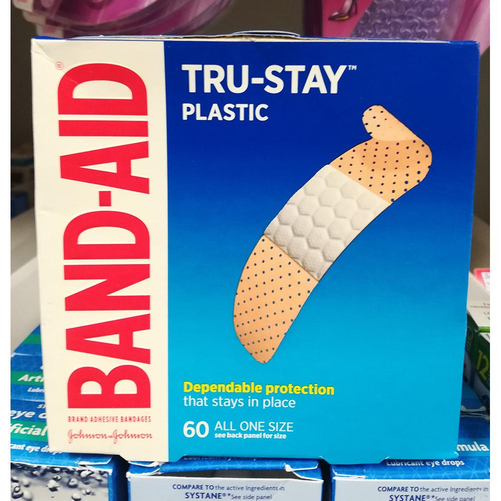 Johnson & tru-stay Band-aid 존슨 앤 밴드에이드 60개입 8팩, 1개 (POP 243825020)