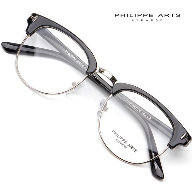필립아츠 블루라이트차단 안경테 PA7029K C2 하금테 시력보호 청광렌즈 반뿔테 패션 톰포드 ST 디자인