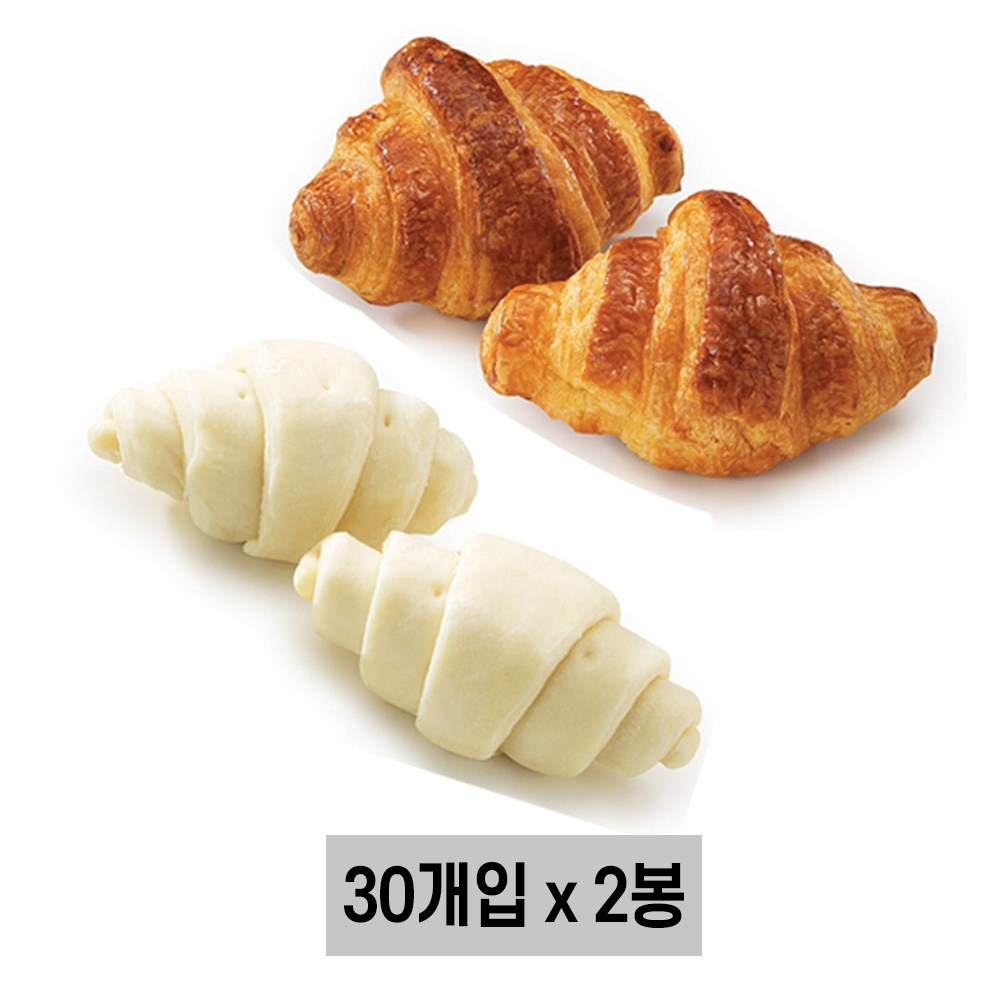 삼립 냉동생지 미니크로와상 (드), 60개입, 18g