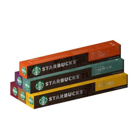 [해외] 스타벅스 앳홈 네스프레소 호환 커피캡슐 6종 60캡슐, 6종 60개입
