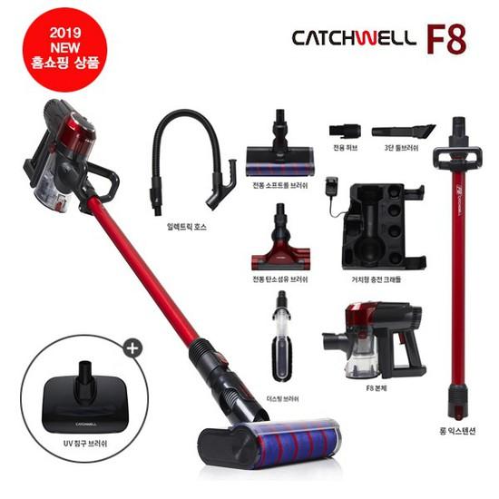 [홈쇼핑 방송상품] 캐치웰 차이슨 F8 BLDC 무선청소기 22000pa / 2년무상AS, 상세설명 참조, F8(펫브러시 불포함)