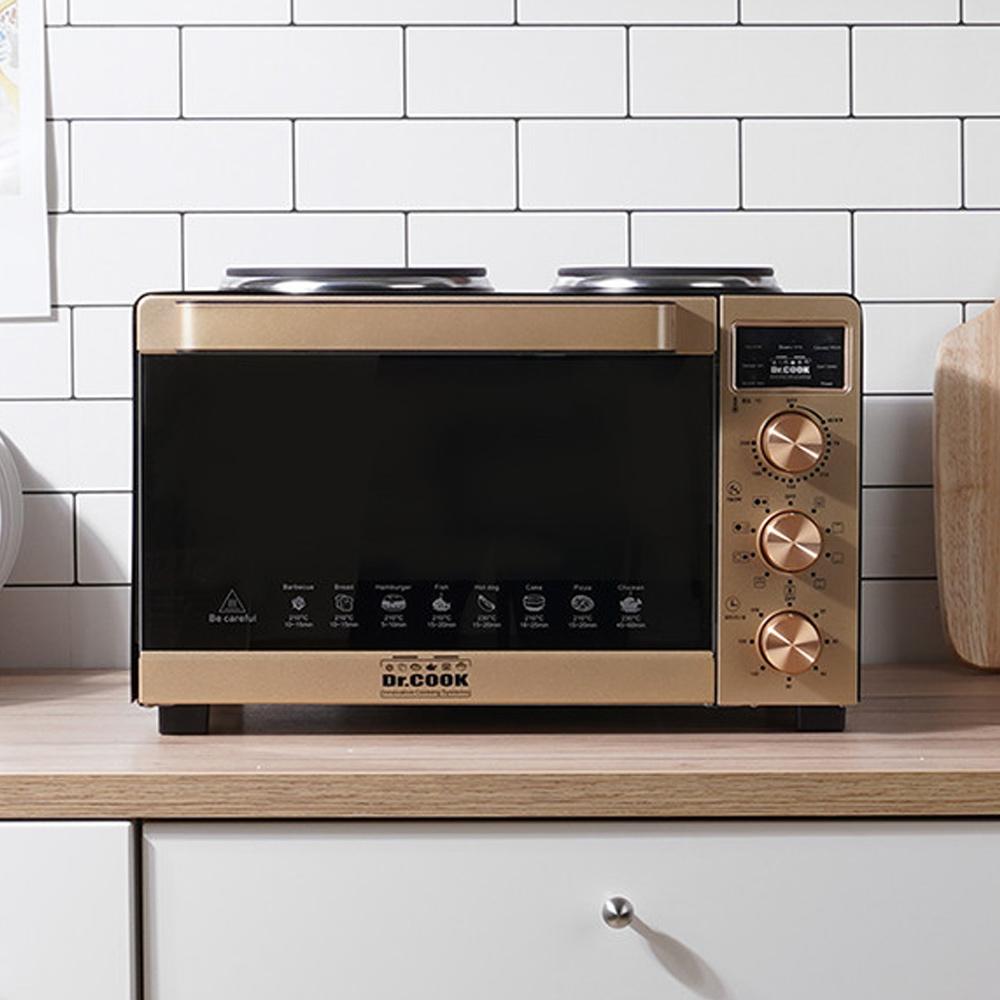 가정용 대용량 광파 오븐 에어프라이어 통돌이 삼겹살 구이 기계, 02.대우 대용량 오븐 에어프라이어 10L