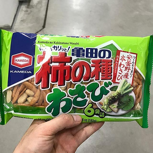 도매로드 일본 쌀과자 땅콩과자 맥주안주 와사비맛 182g 1개 스낵 1