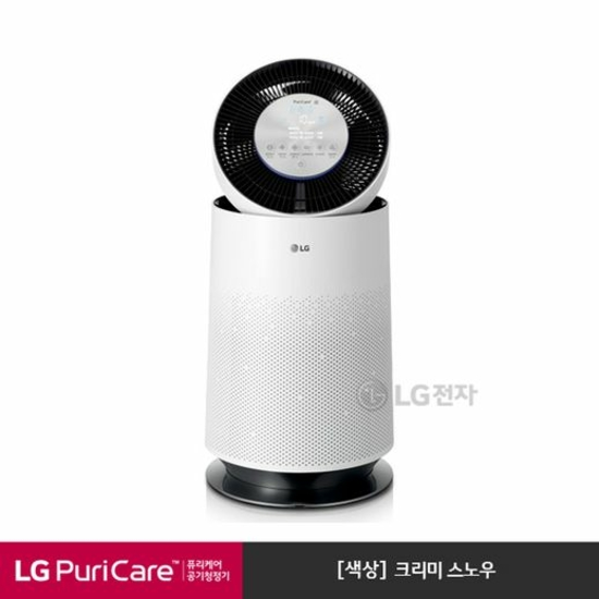 [K쇼핑][LG]퓨리케어 360도 공기청정기 AS190DWFA [크리미스노우/CA공기청정 인증], 단일상품