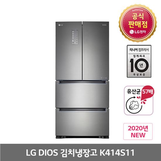 [K쇼핑]LG전자 K414S11 김치톡톡 402L 스탠드형 김치냉장고 전국무료배송, 단일상품