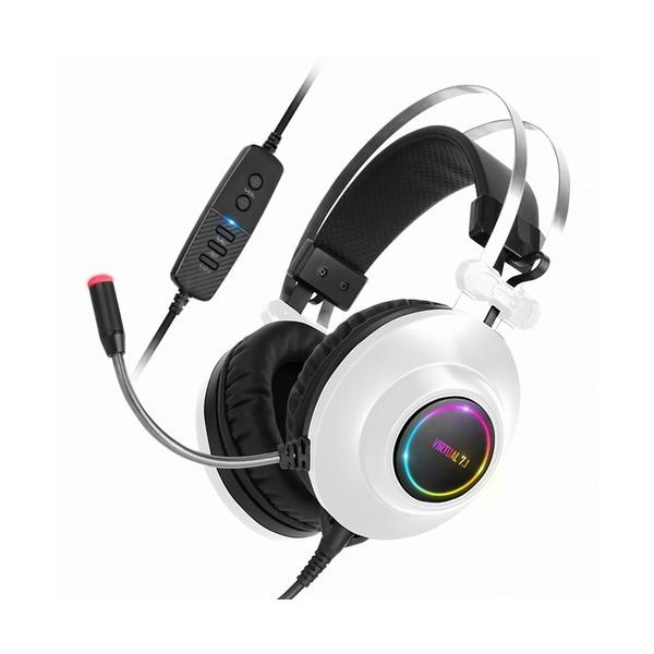 ABKO HACKER N550 ENC 7.1 RGB 진동 헤드셋 화이트