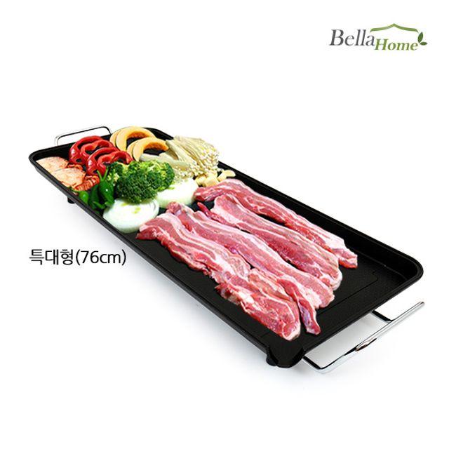 (벨라홈) 와이드 전기그릴_특대형760x303x90mm 고기 굽는 기계 전기 그릴 판 연기안나는 이상민 박세리, 쿠팡 100 본상품선택