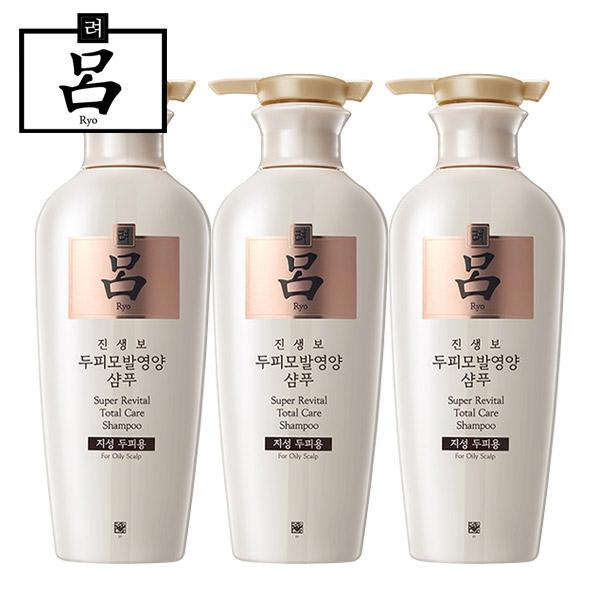[무료배송]려 진생보 두피모발영양 샴푸(지성두피용)400ml, 3개