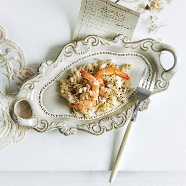 수입 명품 도자기그릇 유럽풍 예쁜그릇 플레이팅접시, 화이트