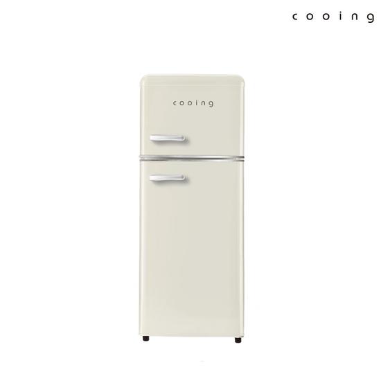 [K쇼핑]쿠잉 북유럽형 레트로 냉장고 REF-D121C 쿠잉/소형/미니, 단일상품