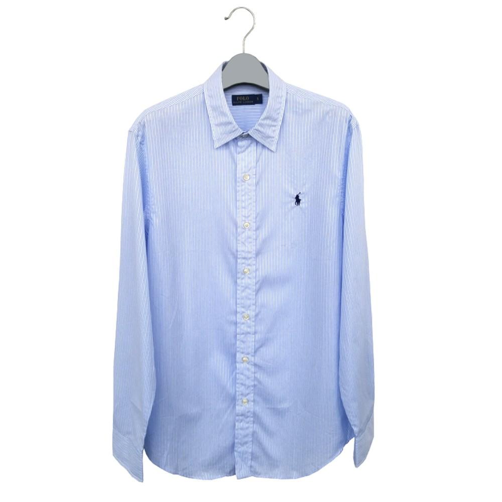 해외직구 폴로 셔츠 Classic-fit 코튼 셔츠 Urban 캐주얼 스카이 스트라이프 셔츠