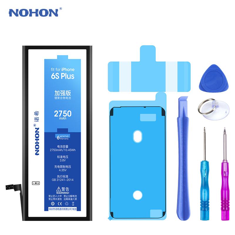 NOHON 노혼 배터리 아이폰 8 7 6 6S 플러스 5 5C 5S iPhone6S iPhone7 iPhone8 교체 뜨거운 거래, For iPhone 6S Plus 2750mAh