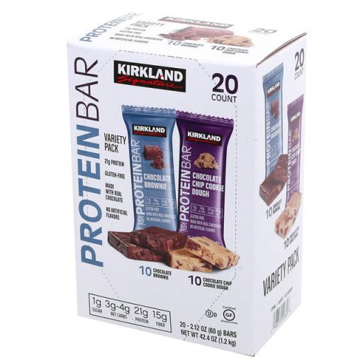 코스트코 커클랜드 프로틴바 단백질 간식 영양바 60g 20개입, 1개