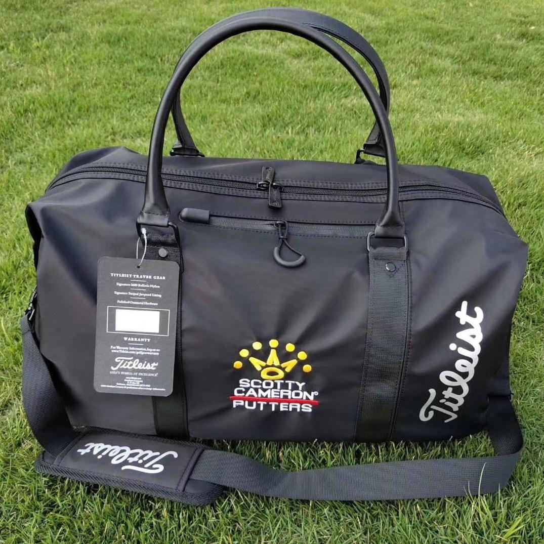 스카티 카메론 보스턴백 골프 초경량 라이트백 남녀공용 표준 보스턴백 파우치, 블랙(타이틀)