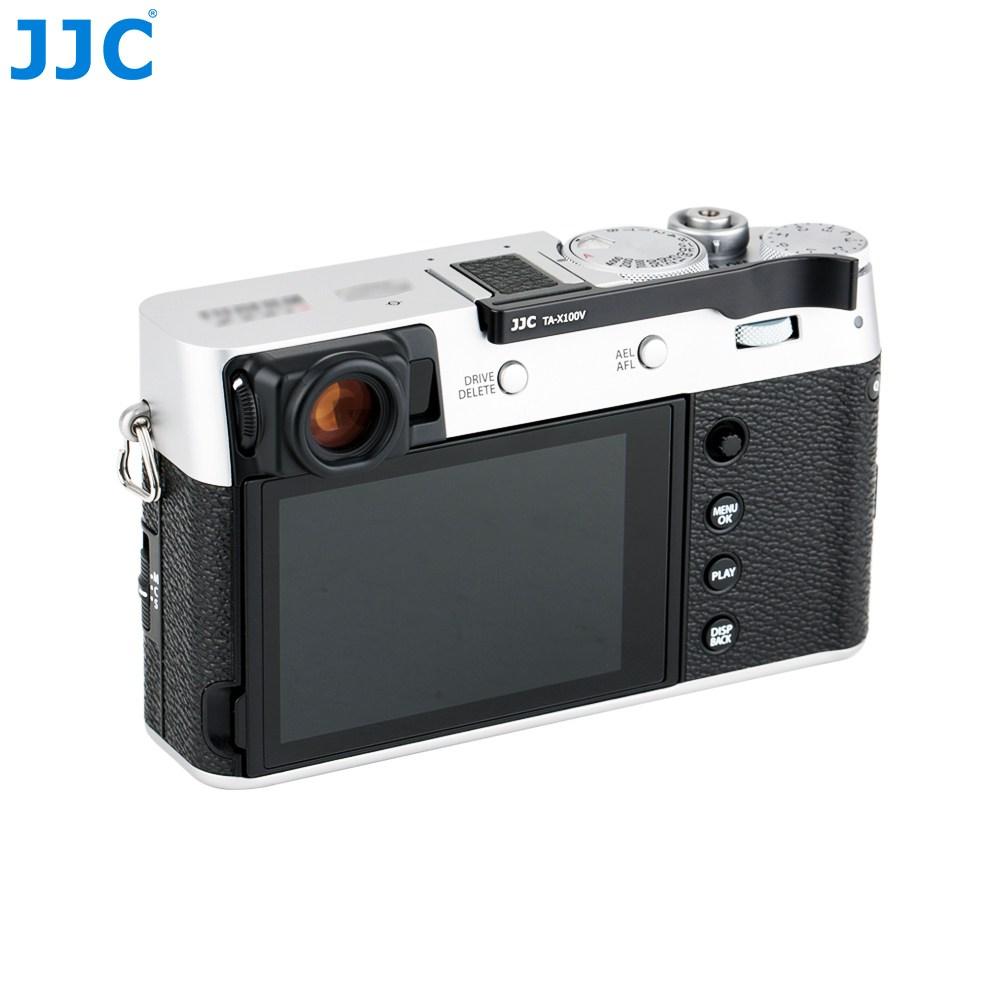 [JJC] 후지x100v 엄지그립 실버 블랙