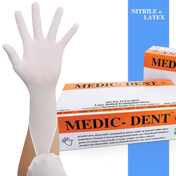 (의료용) 슈퍼맥스 메딕덴트 라텍스장갑 화이트 100매 (FDA CE인증), 메딕덴트 라텍스(100매), S