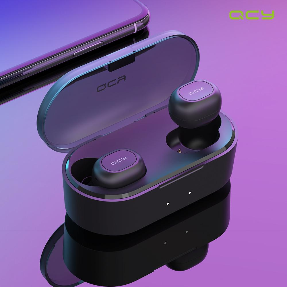 QCY 국내무상 AS T2C 블루투스 5.0 정품인증 블루투스이어셋, 화이트, T2C 화이트+탱크파우치
