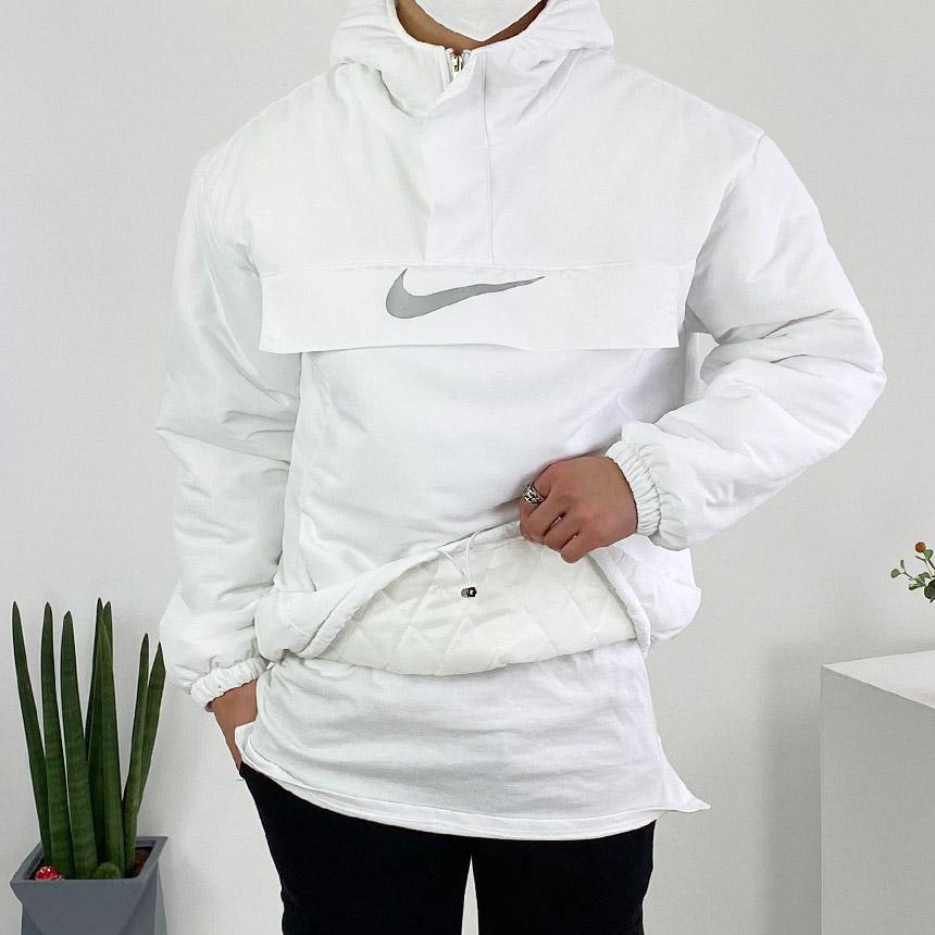 N 빅포켓 스카치 로고 패딩 퀄팅 누빔 아노락 후드 티셔츠 3color