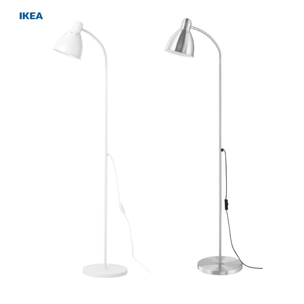 이케아 LERSTA 플로어 스탠드 + 이케아 LED 전구 무료배송 [이케아정품], 화이트