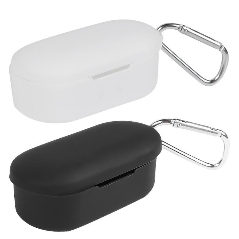Qcy t2c 보호용 풀 커버 케이스 무선 이어폰 qcy t2c 케이스 용 실리콘 커버 anti fall 방진 보호기, 단일, WHITE