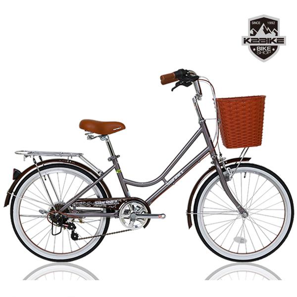 K2BIKE 2020 클래식 여성용자전거 스와니 22인치 7단 자전거, 스와니22인치 그레이 미조립+소형공구