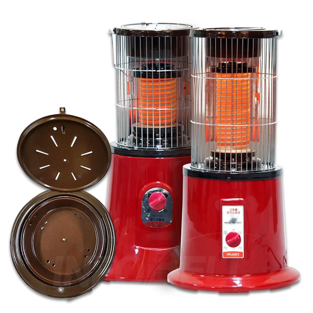나산전기 고구마 황토보빈 전기 난로 온풍기 NS-9293/NS-9292A, NS-9293