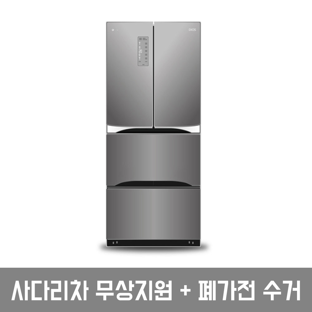 LG전자 트윈스 디오스 김치톡톡 김치냉장고 K414S11 402L 스탠드형