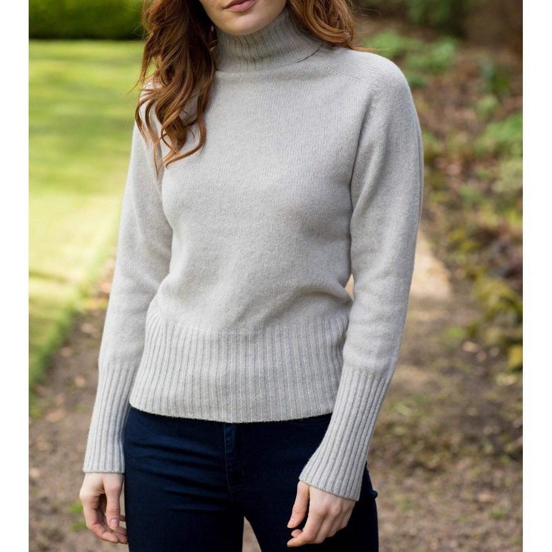 할리 오브 스코틀랜드 HARLEY OF SCOTLAND 여성 터틀넥 여자 스웨터 니트 우먼