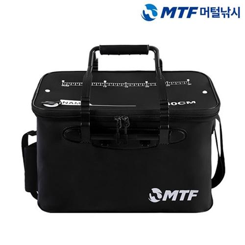MTF 베테랑 접이식 다용도 낚시 보조가방 살림통, 블랙