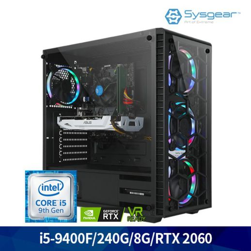 시스기어 시스기어 인텔 코어 i5 9400F/RTX 2060/8G 240G 게이밍 PC GT946R, 상세 설명 참조
