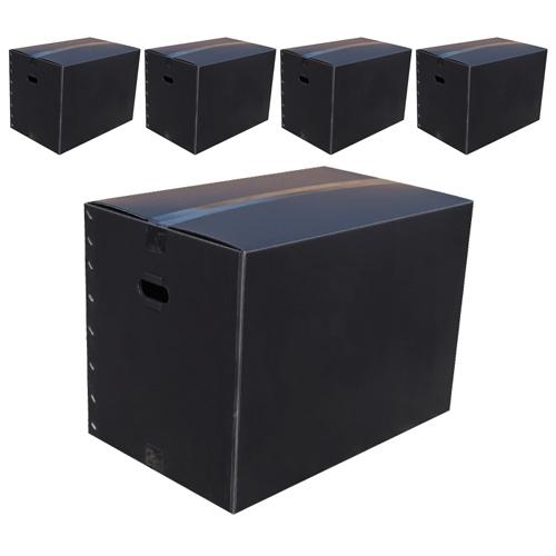 네오비 이사박스 5개묶음, 5호(600×380×430), 검정