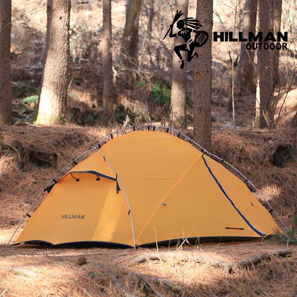 힐맨 안단테 2인용 텐트 그라운드시트 포함, 옐로우