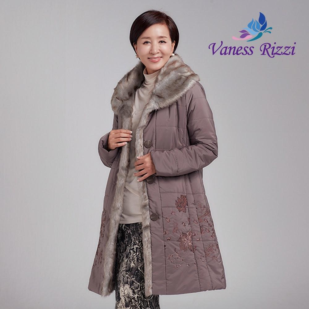 자수 숄 카라 패딩 자켓 코트 엄마 미시 할머니 옷