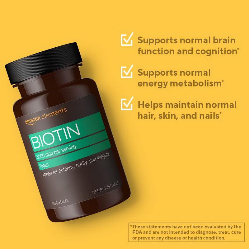 아마존 엘리먼트 비오틴 비오틴효과 5000mcg 130캡슐 2팩