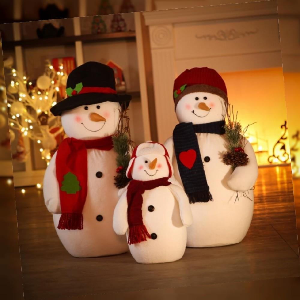 눈사람인형 3p 소품 해피 눈사람 크리스마스 가족 인테리어 스마일, 상세페이지참조