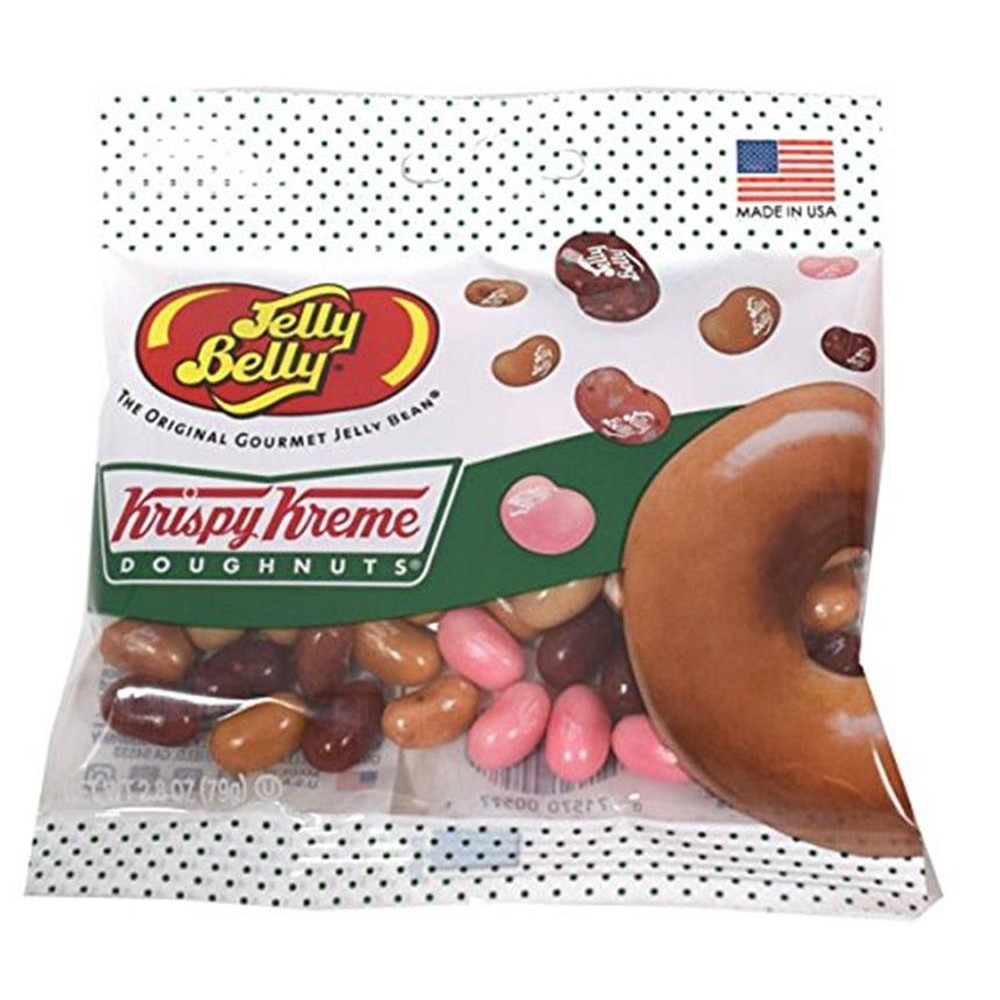 Jelly Belly 젤리 벨리 크리스피 크림 도넛 콩 믹스 2.8온스 그랩 고백 12카운트 케이스 Krispy Kreme Doughnuts Beans Mix 2.8 oz Grab Go Bag 12 Count Case