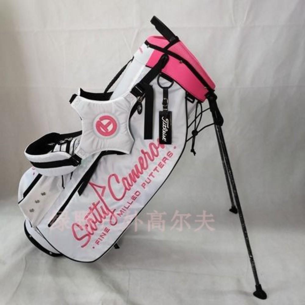 스카티카메론 골프 가방 캐디백 스탠드백 경량 남성용 여성용, 화이트 핑크