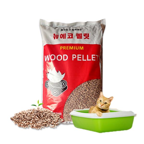 뉴에코 러시아산 A1등급 우드 목재 펠릿 20kg 화장실 배딩 고양이 모래 [품질검사 완료]