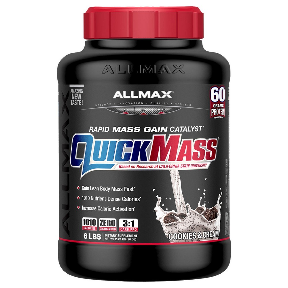 [미국직구]ALLMAX Nutrition Quick Mass Rapid Mass Gain Catalyst 쿠키 앤 크림 2.72kg(6lbs), 선택, 상세설명참조