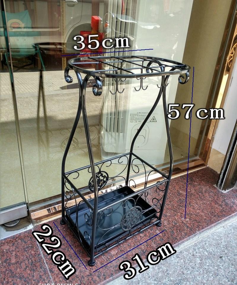 엔틱 철제 우산꽂이 카페 사무실 빈티지 우산보관함, 블랙개