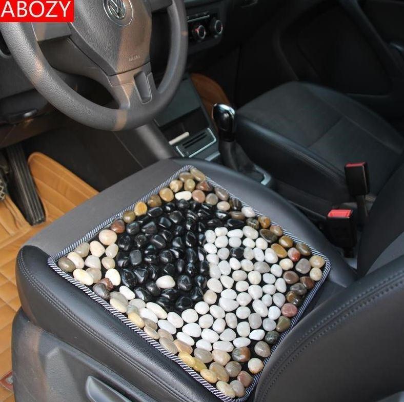 발지압 발부분 전기가열 돌멩이 작은죽순 마노석 발맛사지 자갈 매직 스톤, 기본, T23-자동차시트 태극 타입 40*40CM