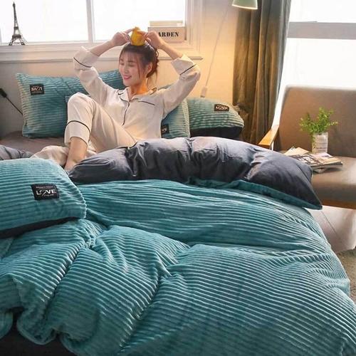 벨벳 극세사 더블 퀸&킹 침구 겉이불 커버, 옐로우 이불커버 150x200