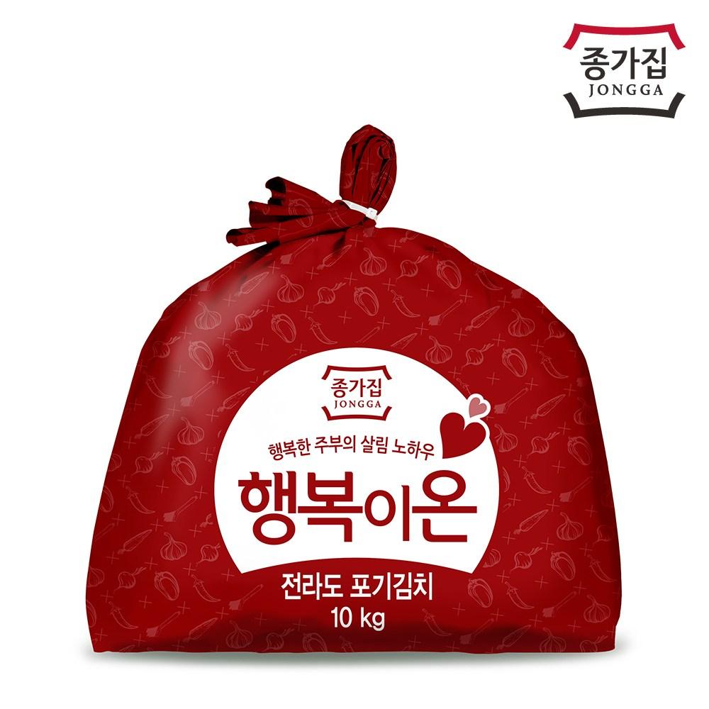 종가집 행복이온 전라도포기김치, 단일상품, 10kg