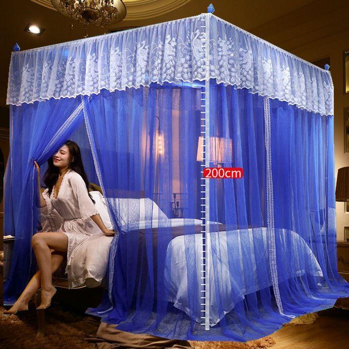 모기장 궁전 스탠드식 스탠드형 단문 1.2m1.5미터 1.8더블침대 결박 조밀한, C02-1.5m(5피트)침대